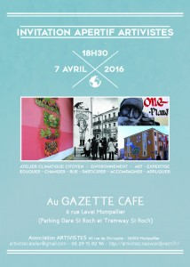 Invitation Apéritif 7 avril 2016 - 18h30 Gazette Café