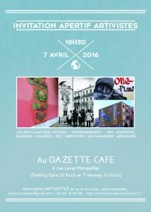 Invitation Apéritif 7 avril 2016 - 18h30 Gazette Café